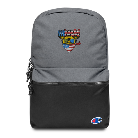 Champion backpack collaboration with Colourful Money