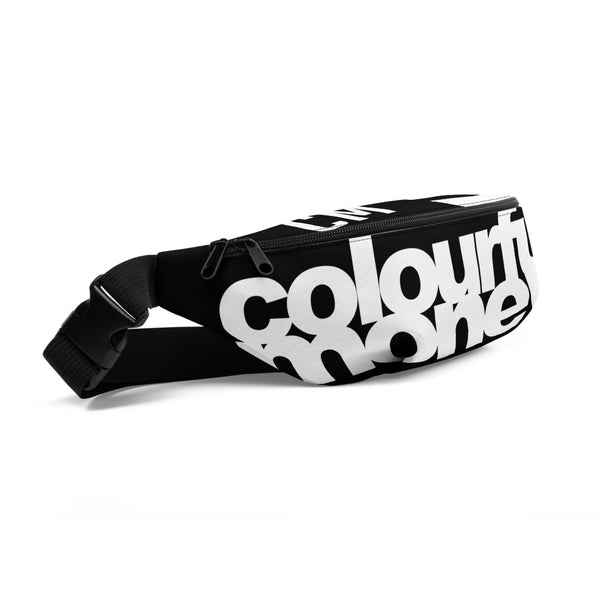 Colourful Money Fanny Pack (Black)