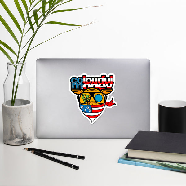 Made in the USA Colourful Money Bubble-free stickers