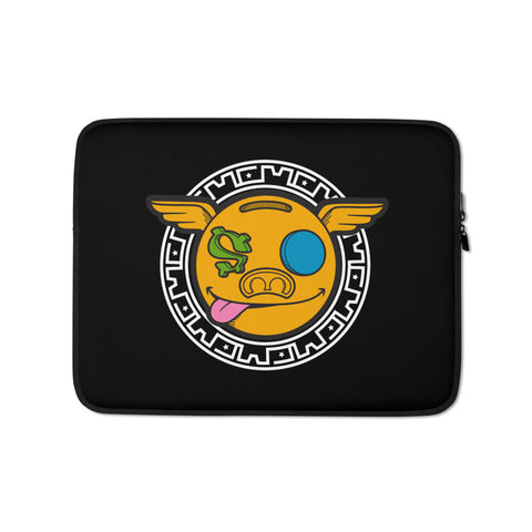 HanZ0 LoGo Custom Laptop Sleeve - (Black)