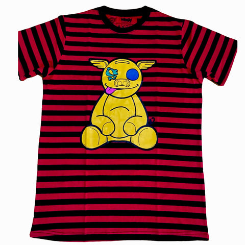 HanZ0 stripe logo tee (Red)