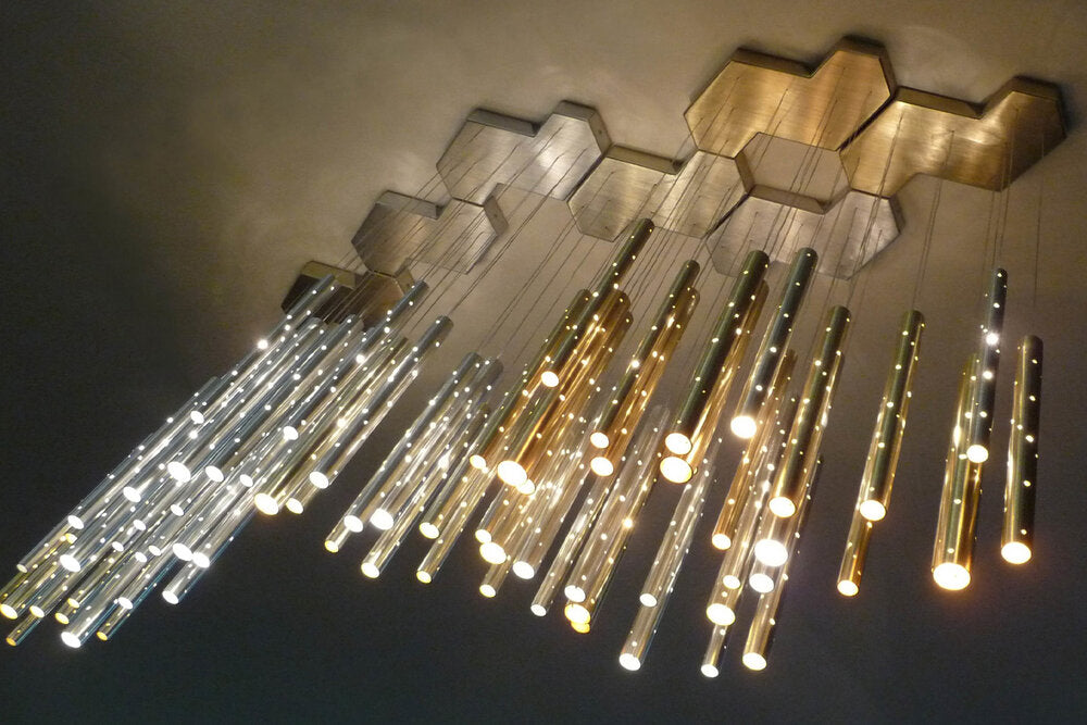 HEAVY RAIN | Pendant lamp  Tube LED chandelier
