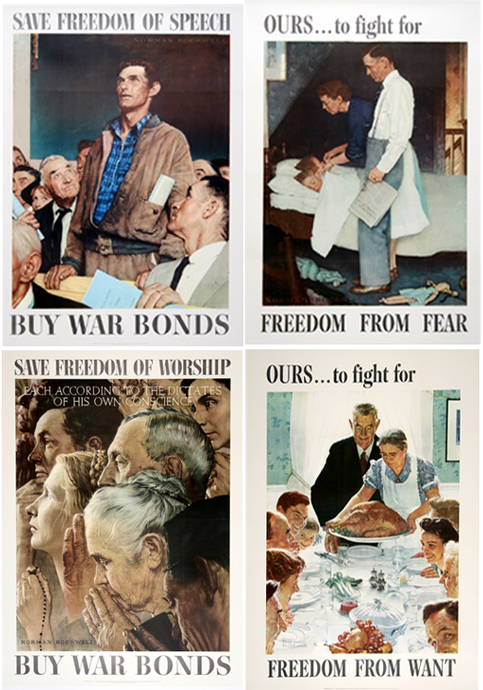 "Norman Rockwell's ""Four Freedoms"" Posters"