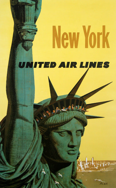 United Air Lines New York Poster