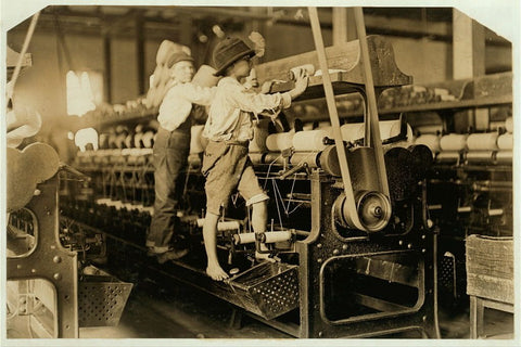 Lewis Hine photographed child labor in America and helped to erase it