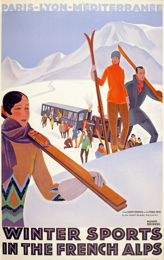 PLM Winter Sports in France by Broders, 1929