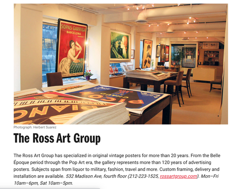 The Ross Art Group in Time Out's Gallery Guide