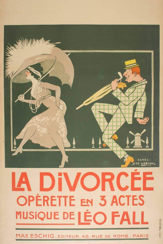 La Divorcee Original Vintage Poster for Theater