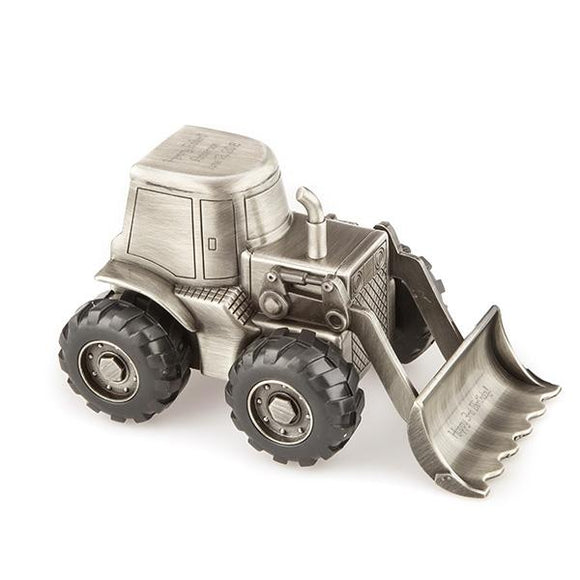 Bulldozer Money Pewter Bank