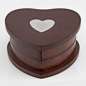 Heart Swivel Jewelry Box