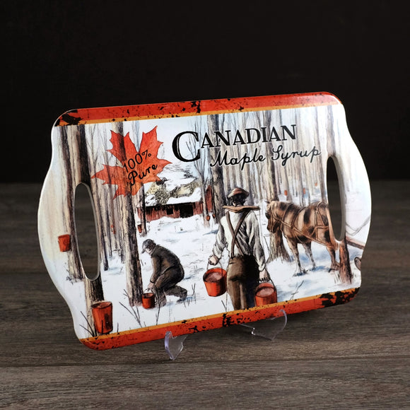 Canadian Maple Syrup Cheese Board 7x11