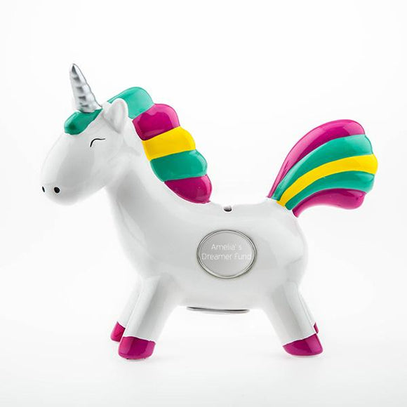 Rainbow Unicorn Ceramic Bank