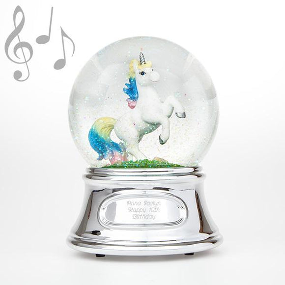 Unicorn Water Globe