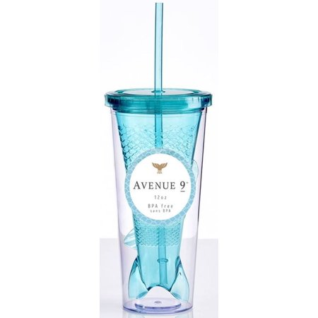 Mermaid Tail Tumbler with Straw