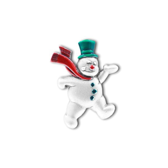 Pewter Coloured Snowman Pin