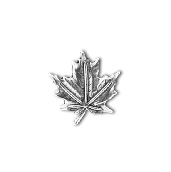 Pewter Leaf Pin - Silver