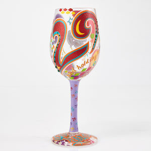 """29 and Holding"" Wine Glass"