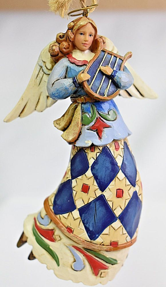 Jim Shore Angel Playing Harp Ornament