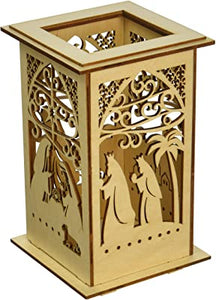 Flourish Nativity Votive Holder