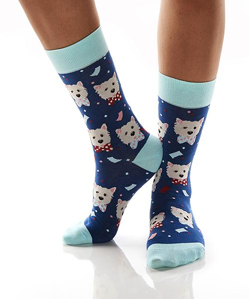 Yo Sox Party Pooch Women's Crew Socks