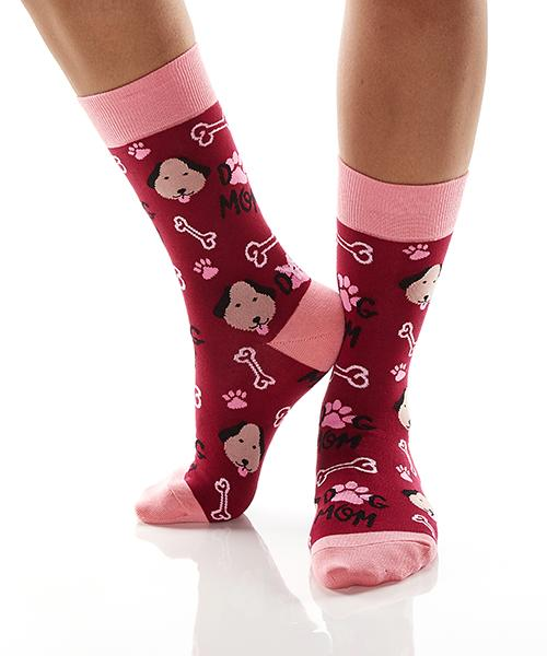 Yo Sox Dog Mom Women's Crew Socks
