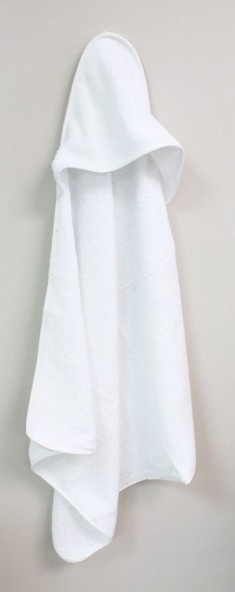 Baby Mode White Hooded Towel