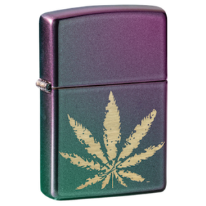 Iridescent Marijuana Leaf - Zippo Lighter