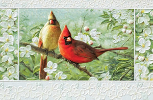 Pumpernickel Press Cardinals in Orchard Greeting Card