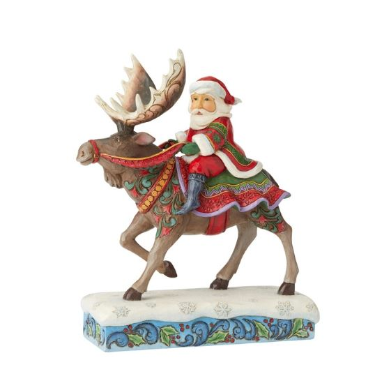 Jim Shore Santa Riding Moose