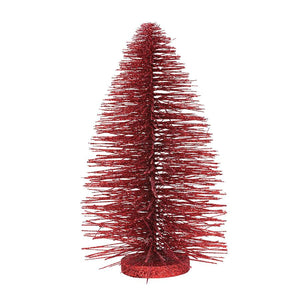 Red Glitter Christmas Tree 11""