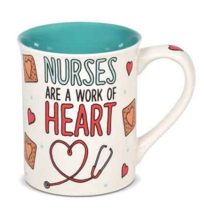 Our Name is Mud Nurse Heart Mug