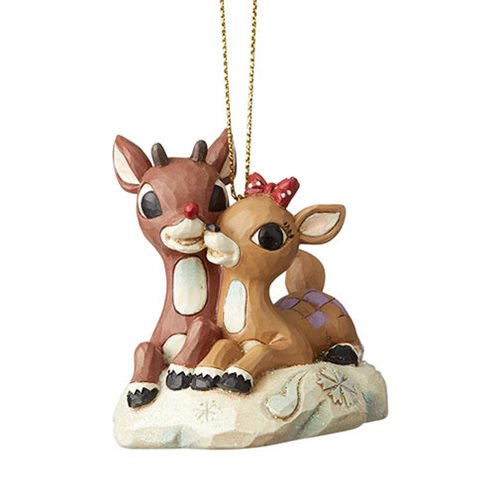 Jim Shore Rudolph & Clarice Laying Down Ornament