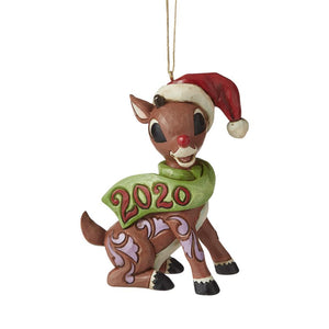 Jim Shore Rudolph Dated Ornament - 2020
