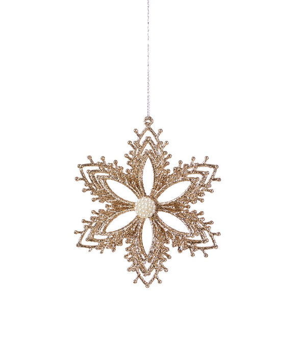 Beaded Center Snowflake Ornaments