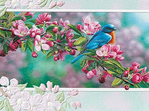 Pumpernickel Press Garden Sapphire Greeting Card