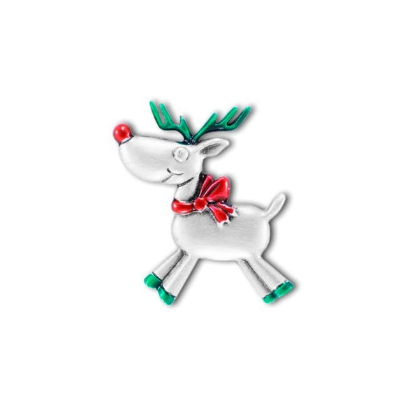 Pewter Coloured Reindeer Pin