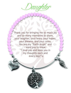 Earth Angel Bracelet: Daughter Stone Charm