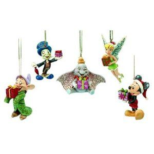 Jim Shore Disney Holiday Ornament Set 5pc