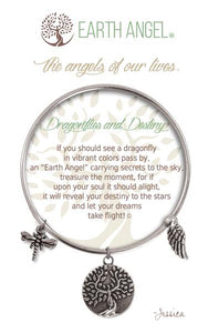 Earth Angel Bracelet: Dragonflies & Destiny Charm