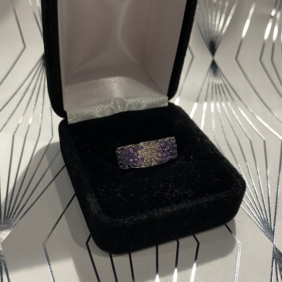 White and Purple Jewel Ring