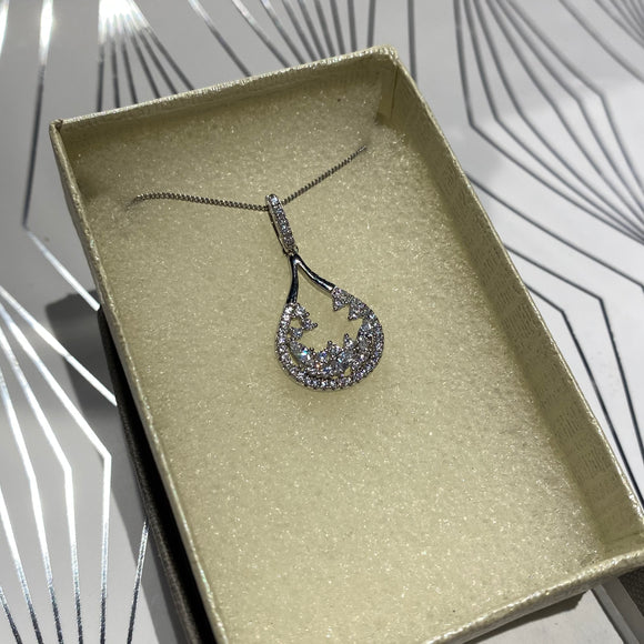 Sterling Silver Crystal Necklace
