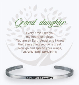 Earth Angel Bracelet: Grand Daughter Cuff
