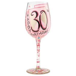 """A Very Flirty Thirty"" Wine Glass"