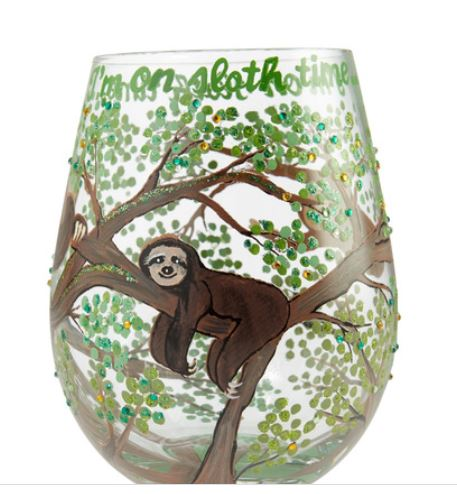 Stemless Sloth Time Wine Glass