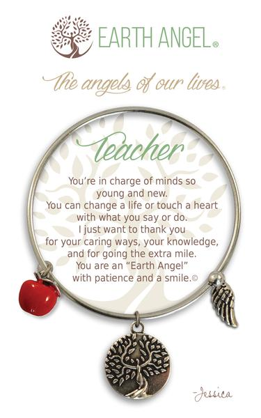 Earth Angel Bracelet: Teacher Charm