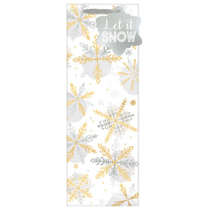 Let it Snow Bottle Bag w/ gift tag
