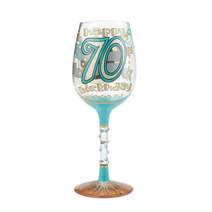 "Lolita ""Celebrating 70"" Wine Glass"