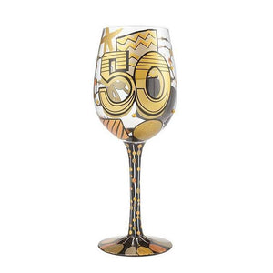 "Lolita ""Cheers to 50 Years"" Wine Glass"