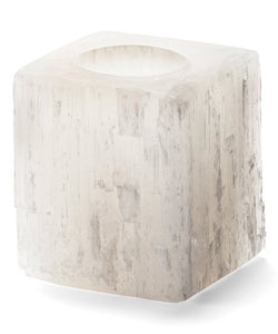 Earth Luxe Selenite Candle Holder