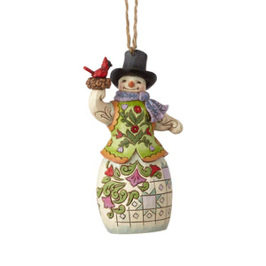 Jim Shore Snowman with Cardinal Ornament